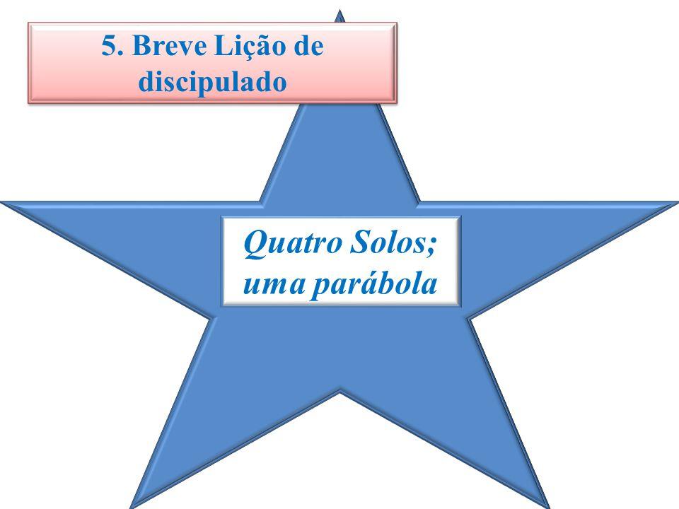 Quatro Solos; uma parábola 5. Breve Lição de discipulado