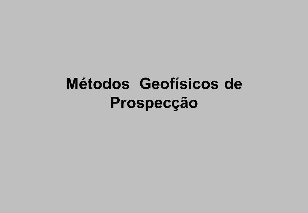Estrutura do tema Introdução, importância, aplicações Apresentação e classificação dos principais métodos geofísicos Métodos principais … Potenciais Radiométricos Elétricos e eletromagnéticos Sísmicos Perfilagem