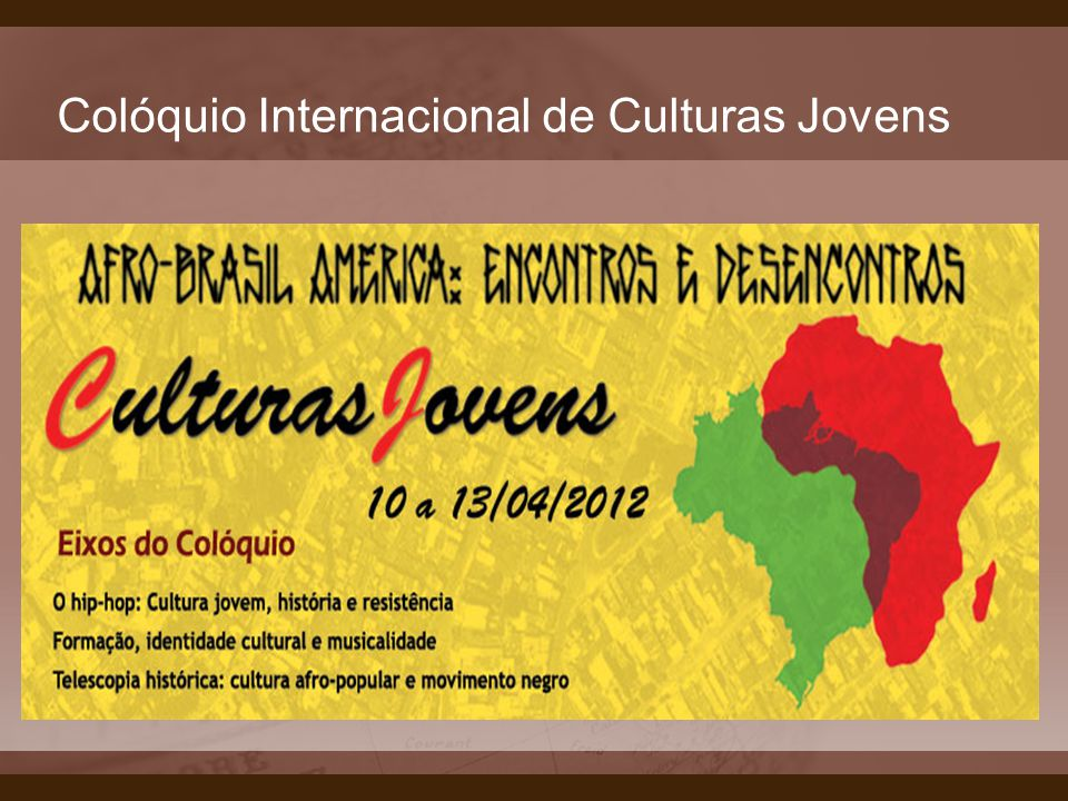 Colóquio Internacional de Culturas Jovens