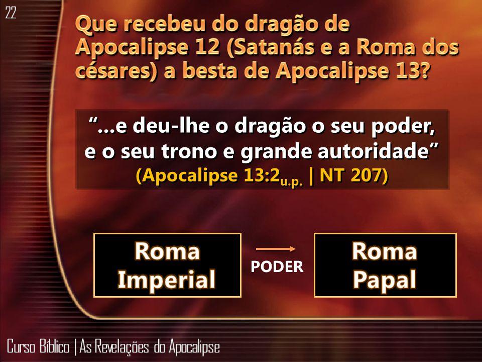...e deu-lhe o dragão o seu poder, e o seu trono e grande autoridade (Apocalipse 13:2 u.p. | NT 207) PODER
