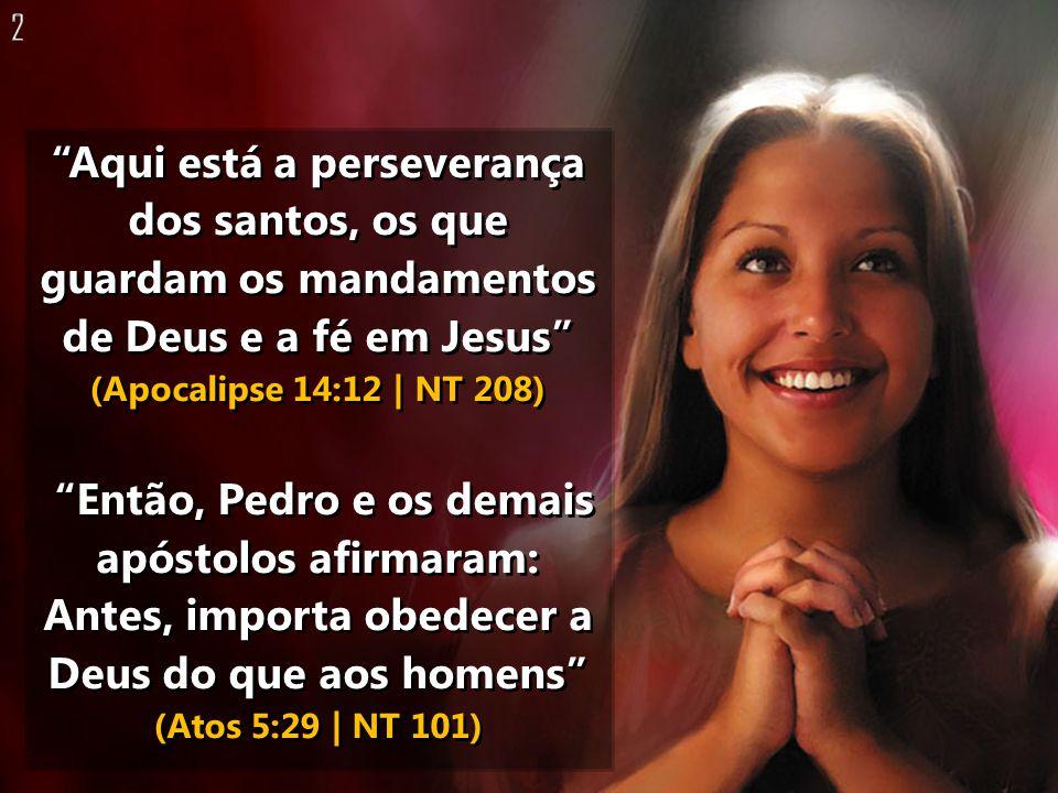 Aqui está a perseverança dos santos, os que guardam os mandamentos de Deus e a fé em Jesus (Apocalipse 14:12 | NT 208) Então, Pedro e os demais apósto
