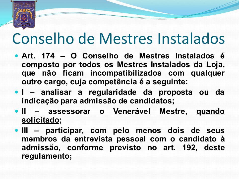 ESTATUTO E REGIMENTO INTERNO ART. 182– A Loja poderá elaborar seu Regimento Interno atendida a legislação da Grande Loja do Estado de São Paulo. O Est