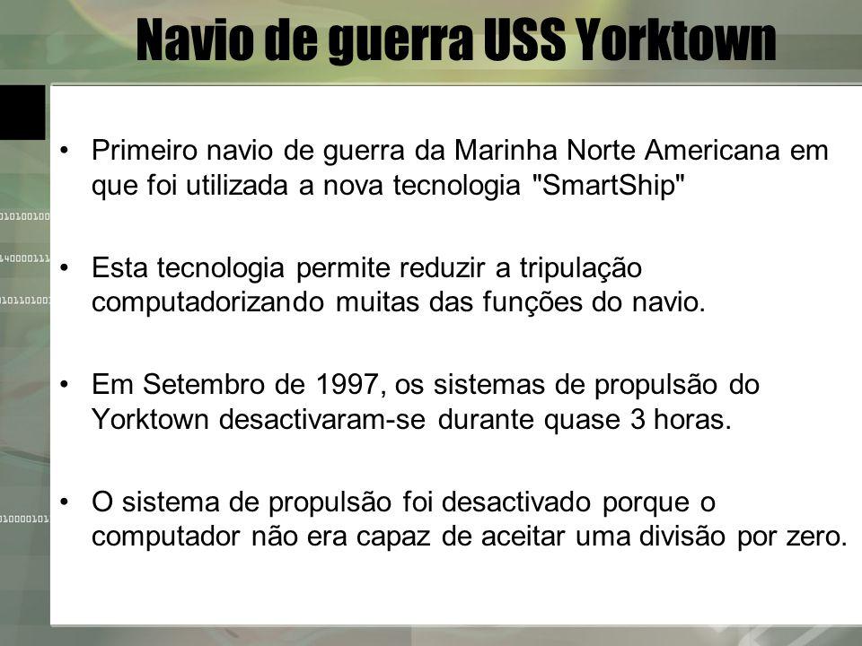 Navio de guerra USS Yorktown Primeiro navio de guerra da Marinha Norte Americana em que foi utilizada a nova tecnologia