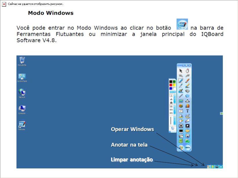 Anotar na tela Operar Windows Limpar anotação
