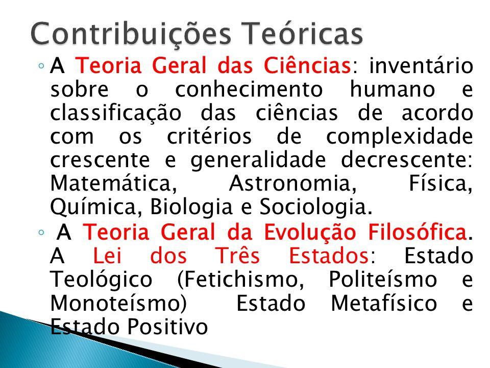 A Teoria Geral das Ciências: inventário sobre o conhecimento humano e classificação das ciências de acordo com os critérios de complexidade crescente