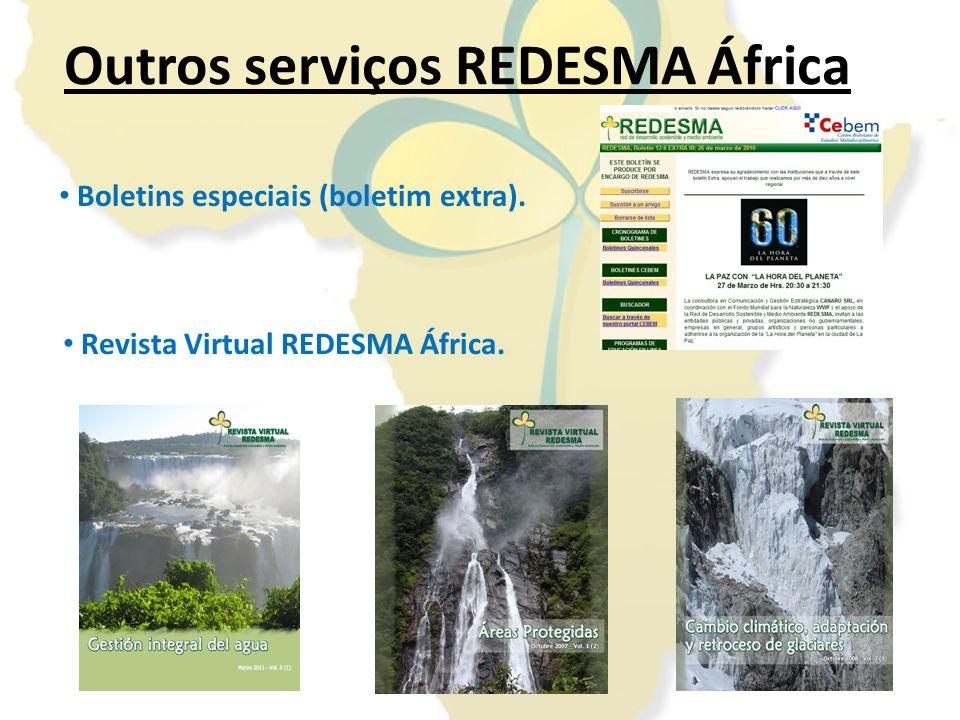 Você pode introduzir a sua informação, documentos ou projetosintroduzir Construir a REDESMA África é tarefa de todos Envio de informação/noticias/documentos para: redesma.africa@bosqueycomunidad.org