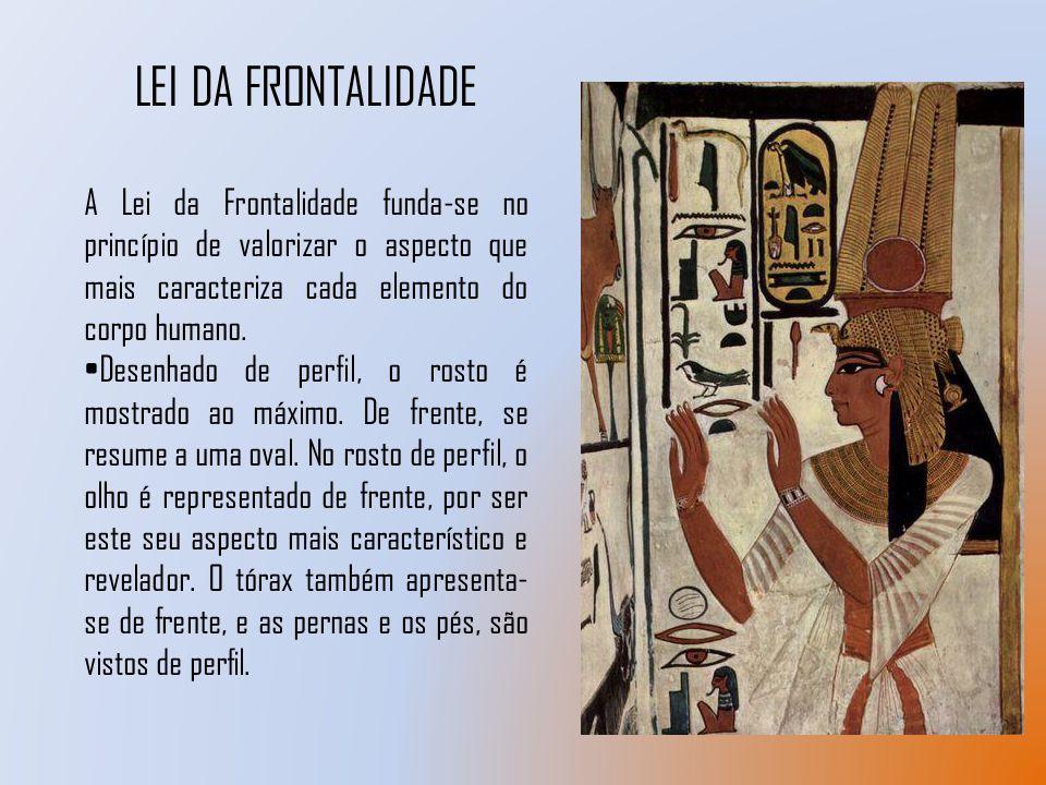 LEI DA FRONTALIDADE A Lei da Frontalidade funda-se no princípio de valorizar o aspecto que mais caracteriza cada elemento do corpo humano. Desenhado d