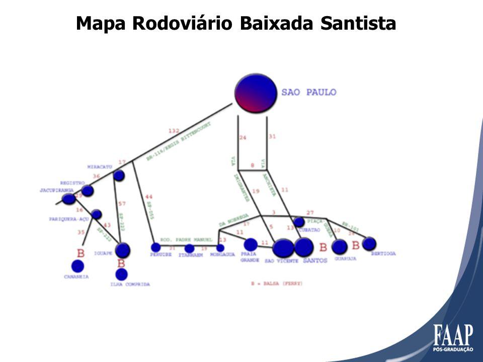 Mapa Rodoviário Baixada Santista