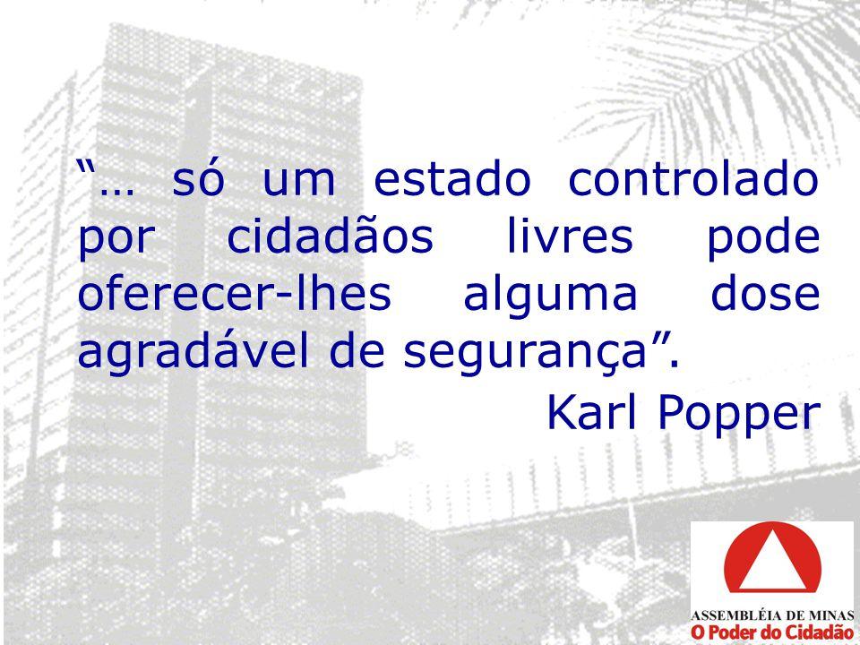 … só um estado controlado por cidadãos livres pode oferecer-lhes alguma dose agradável de segurança. Karl Popper