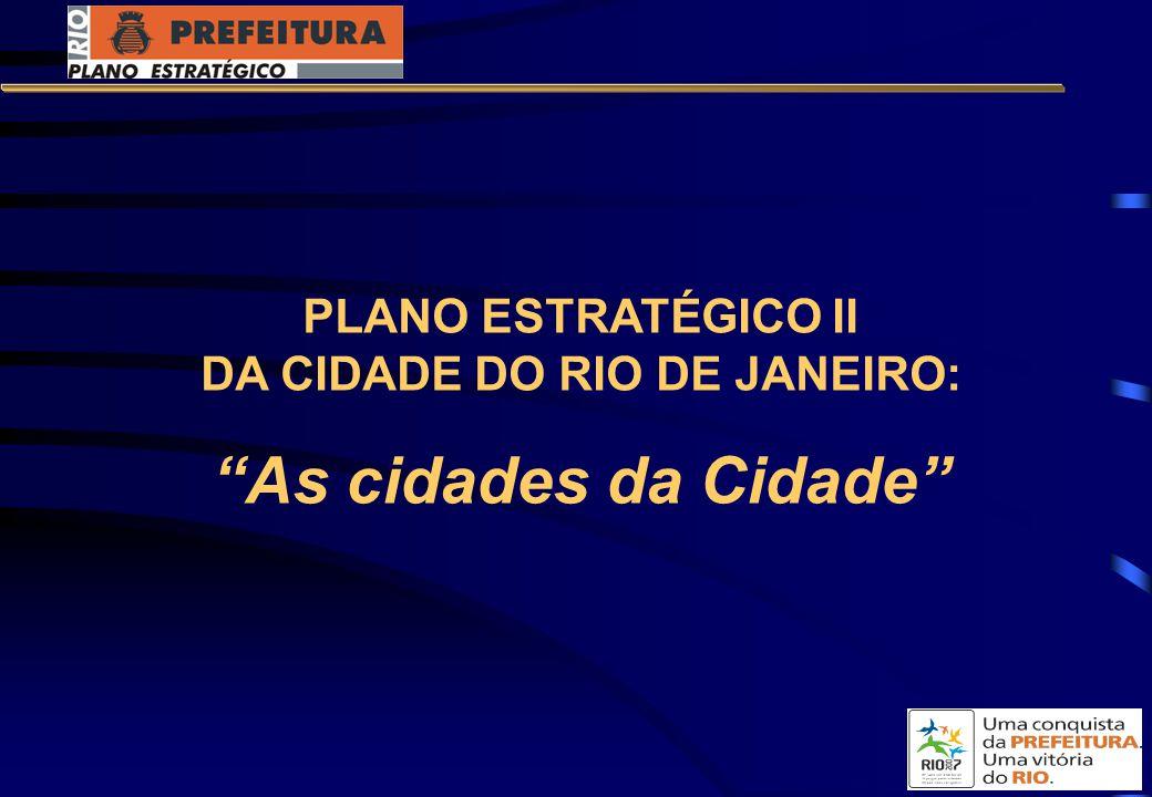 PLANO ESTRATÉGICO II DA CIDADE DO RIO DE JANEIRO: As cidades da Cidade