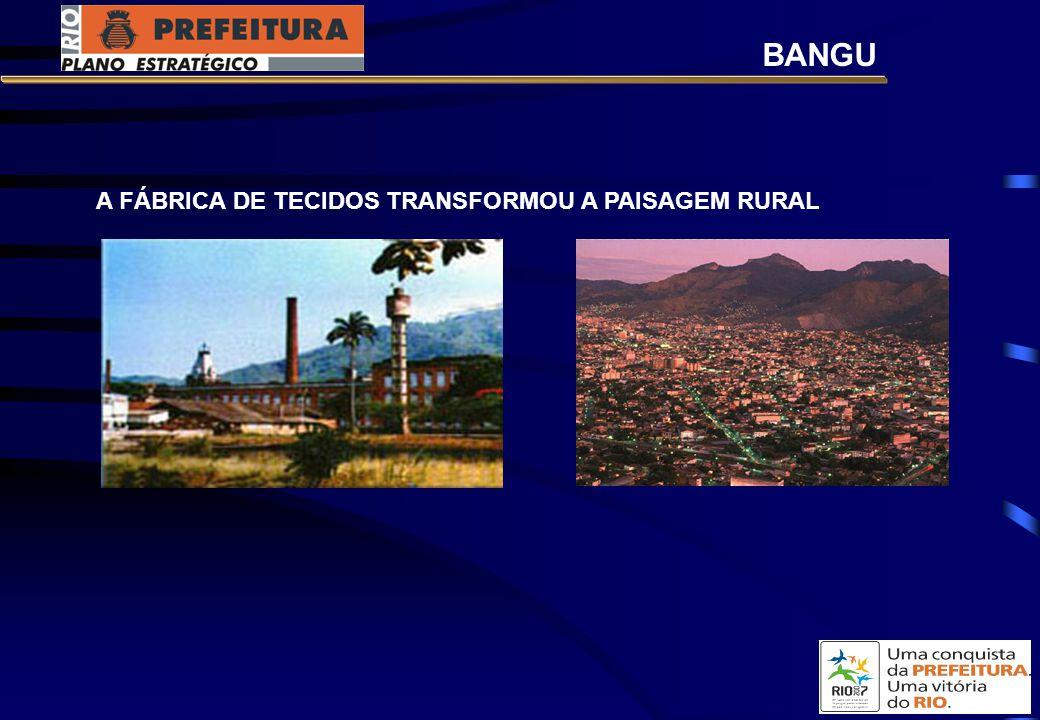 A FÁBRICA DE TECIDOS TRANSFORMOU A PAISAGEM RURAL BANGU