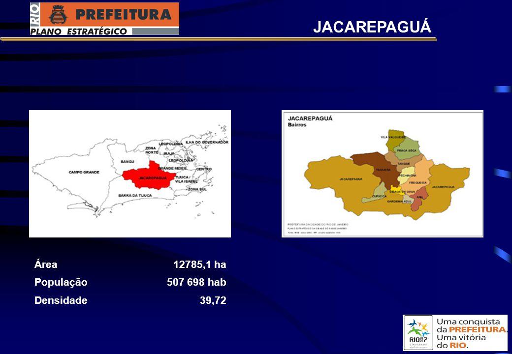 Área12785,1 ha População507 698 hab Densidade39,72 JACAREPAGUÁ