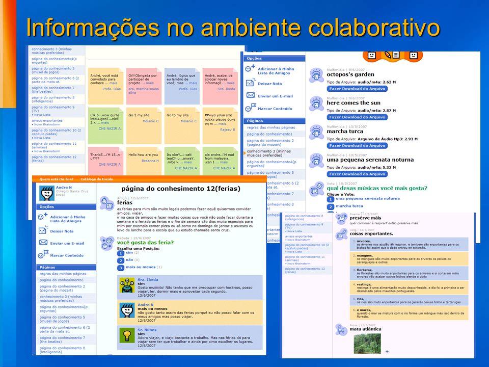Informações no ambiente colaborativo