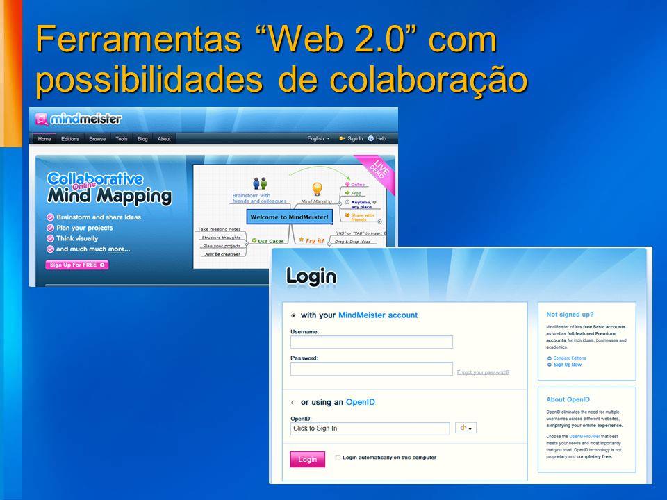Ferramentas Web 2.0 com possibilidades de colaboração