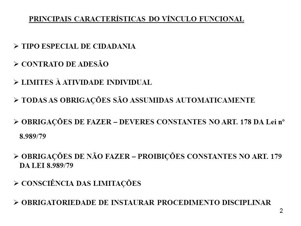 2 PRINCIPAIS CARACTERÍSTICAS DO VÍNCULO FUNCIONAL TIPO ESPECIAL DE CIDADANIA CONTRATO DE ADESÃO LIMITES À ATIVIDADE INDIVIDUAL TODAS AS OBRIGAÇÕES SÃO