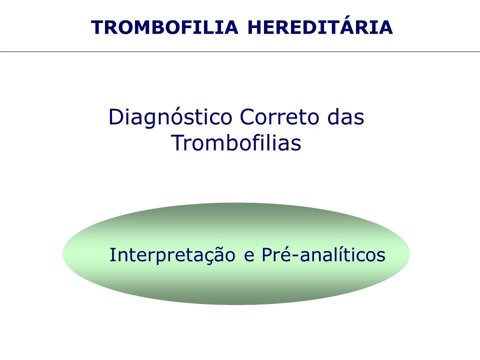 Diagnóstico Correto das Trombofilias Interpretação e Pré-analíticos