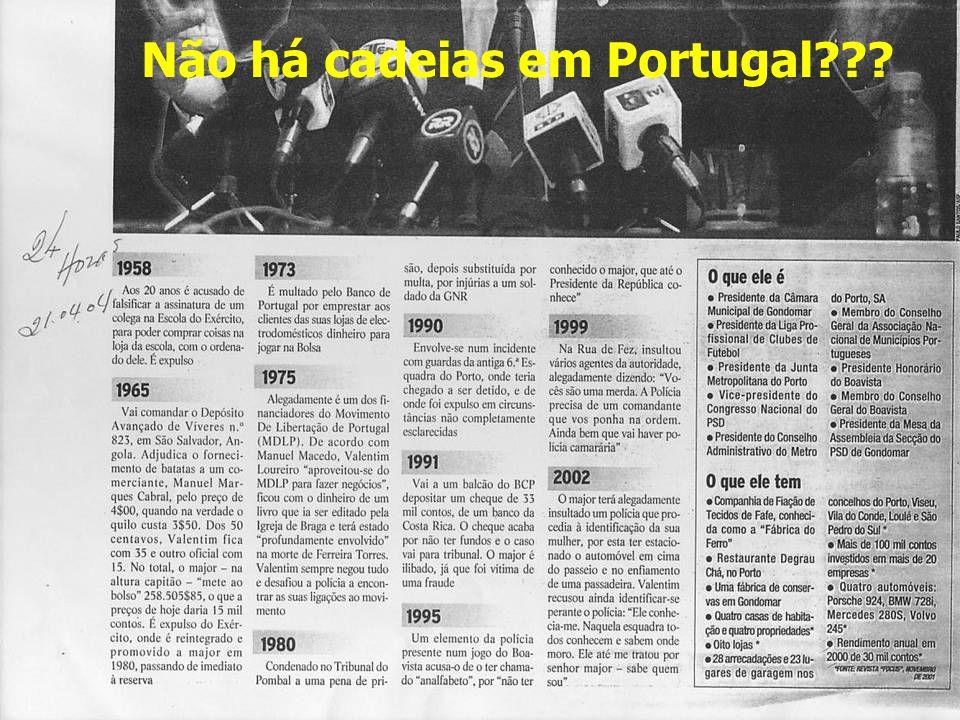 Não há cadeias em Portugal???