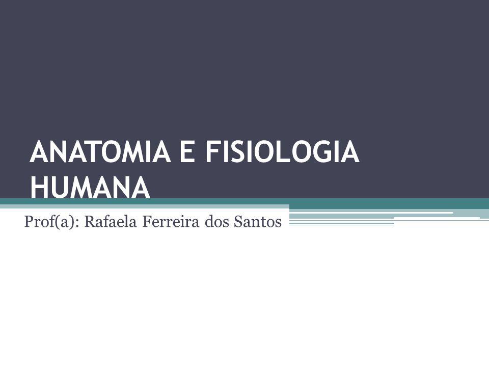 ANATOMIA E FISIOLOGIA HUMANA Prof(a): Rafaela Ferreira dos Santos