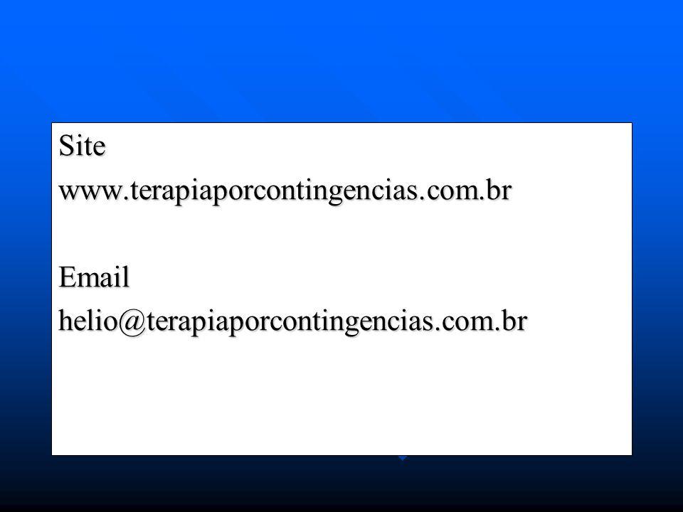 Sitewww.terapiaporcontingencias.com.brEmailhelio@terapiaporcontingencias.com.br