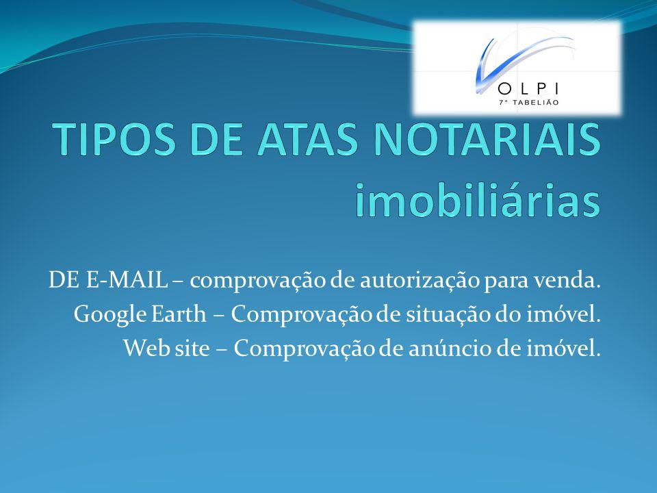 DE E-MAIL – comprovação de autorização para venda.