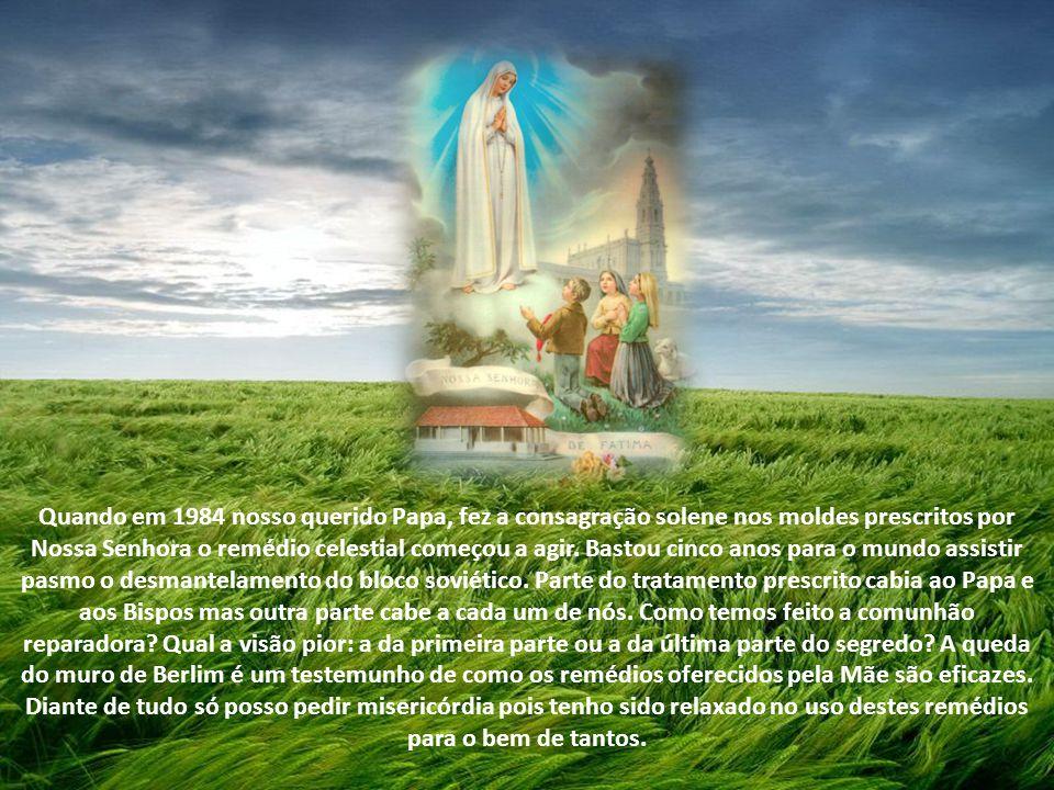 Comentário de Sergio Vellozo - Comunidade Canção Nova Nossa Senhora em Fátima fez um diagnóstico, mostrou os riscos e prescreveu os remédios. Ela ofer
