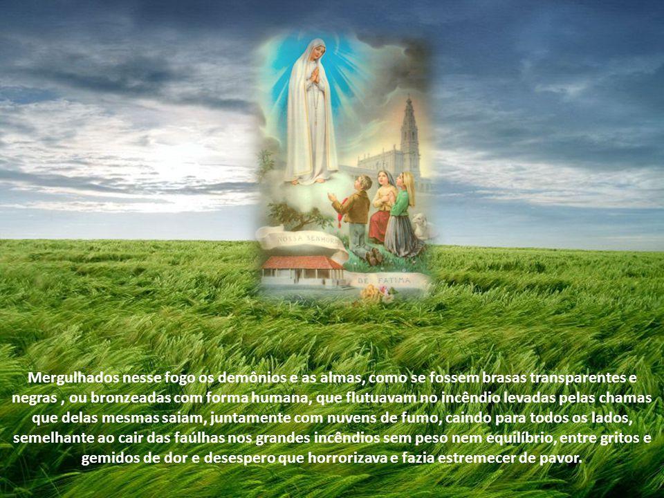 1ª e 2ª parte do Segredo de Fátima, na íntegra. Transcrição na íntegra das palavras de Lúcia de Jesus que contêm a revelação da primeira e segunda par