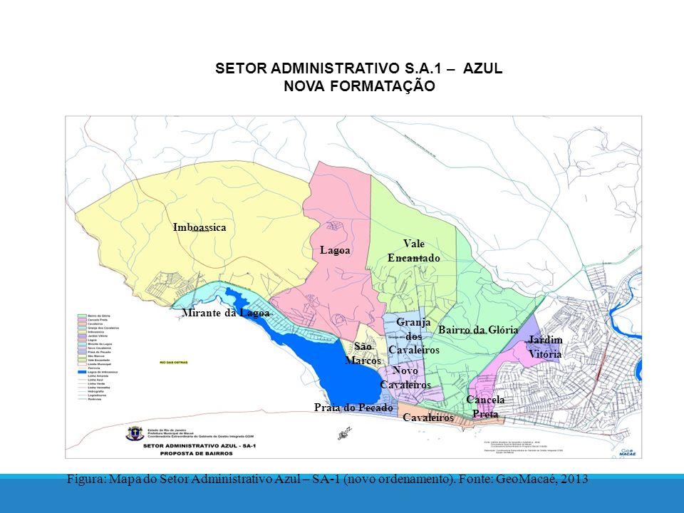 SETOR ADMINISTRATIVO S.A.1 – AZUL NOVA FORMATAÇÃO Figura: Mapa do Setor Administrativo Azul – SA-1 (novo ordenamento).