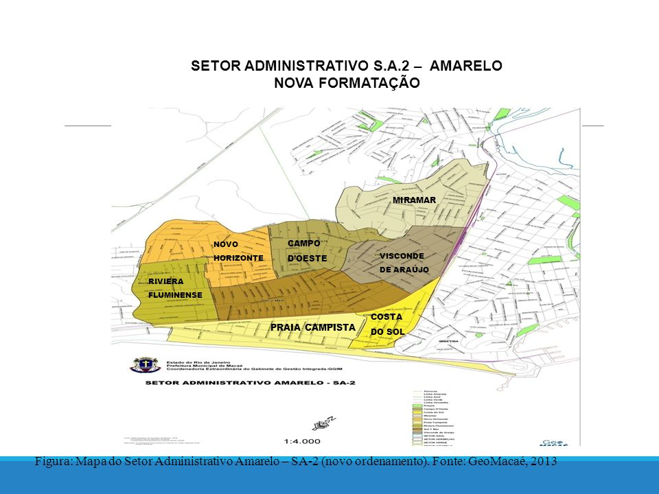 SETOR ADMINISTRATIVO S.A.2 – AMARELO NOVA FORMATAÇÃO Figura: Mapa do Setor Administrativo Amarelo – SA-2 (novo ordenamento).