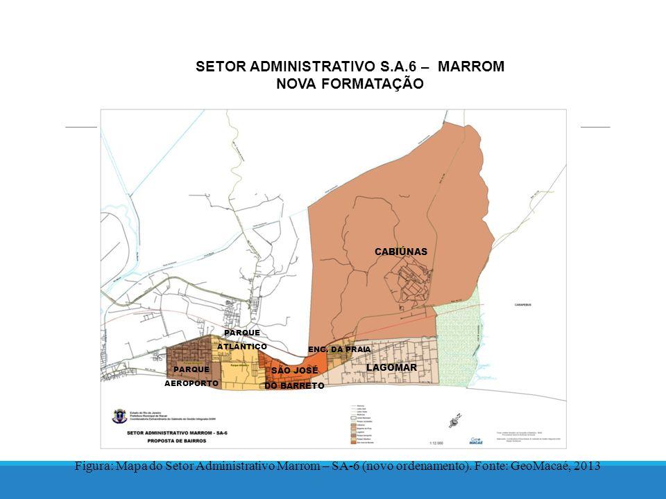 SETOR ADMINISTRATIVO S.A.6 – MARROM NOVA FORMATAÇÃO Figura: Mapa do Setor Administrativo Marrom – SA-6 (novo ordenamento).