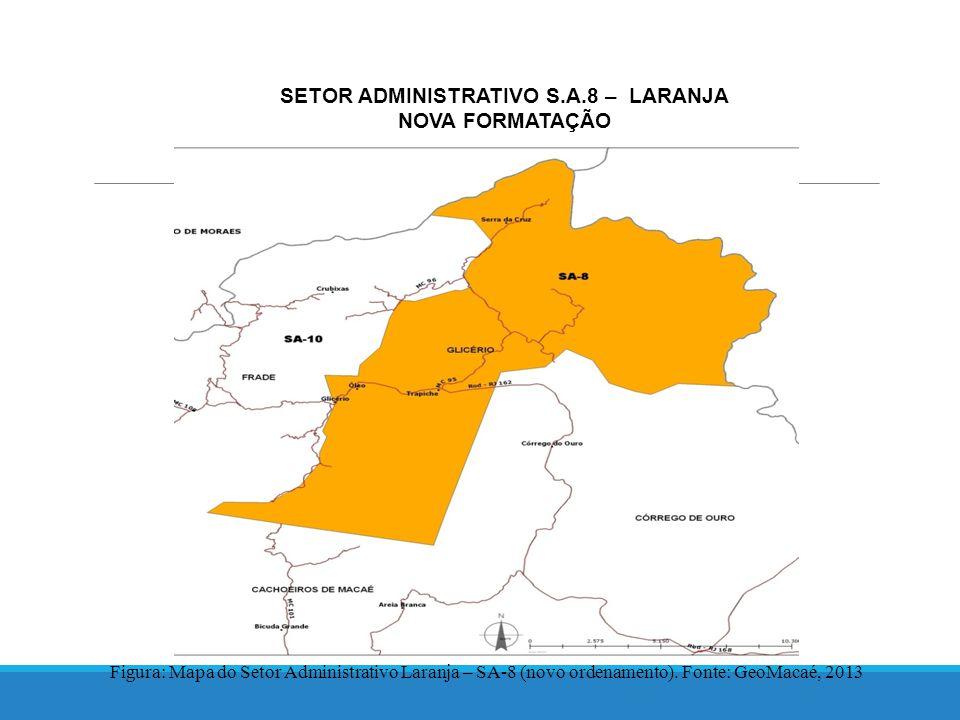 SETOR ADMINISTRATIVO S.A.8 – LARANJA NOVA FORMATAÇÃO Figura: Mapa do Setor Administrativo Laranja – SA-8 (novo ordenamento).