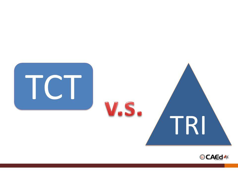 PRINCIPAIS CARACTERÍSTICAS ComparaçõesTCTTRI Nome da medida Percentual de acerto, ou soma de pontos simples.