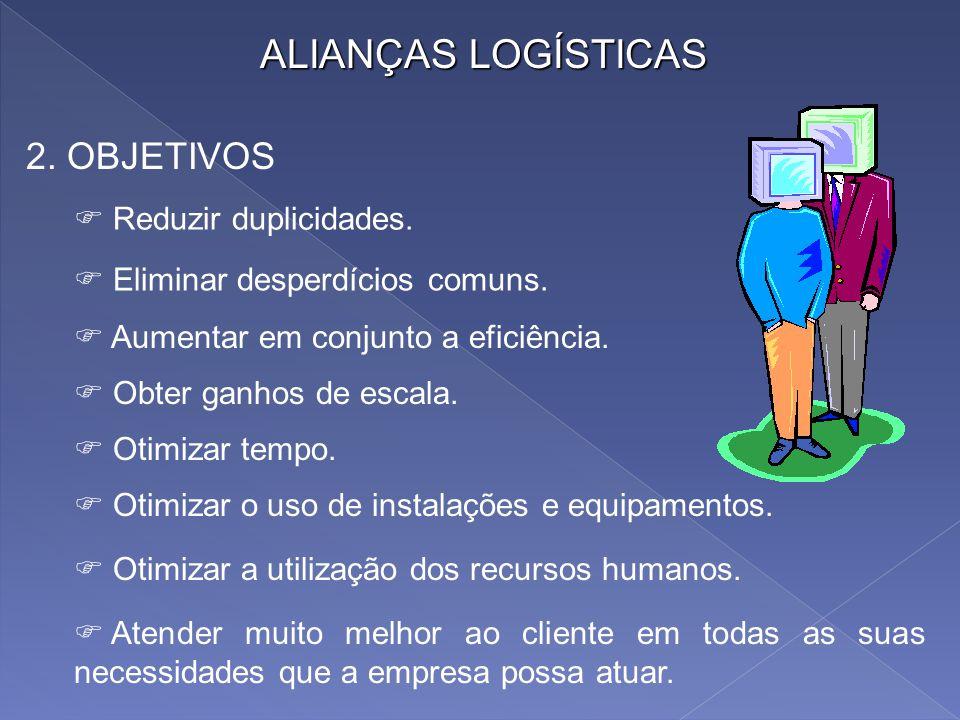 As alianças logísticas são pois um somatório de estratégia, aliança e logística. Somatório porque a existência de uma aliança pressupõe uma estratégia