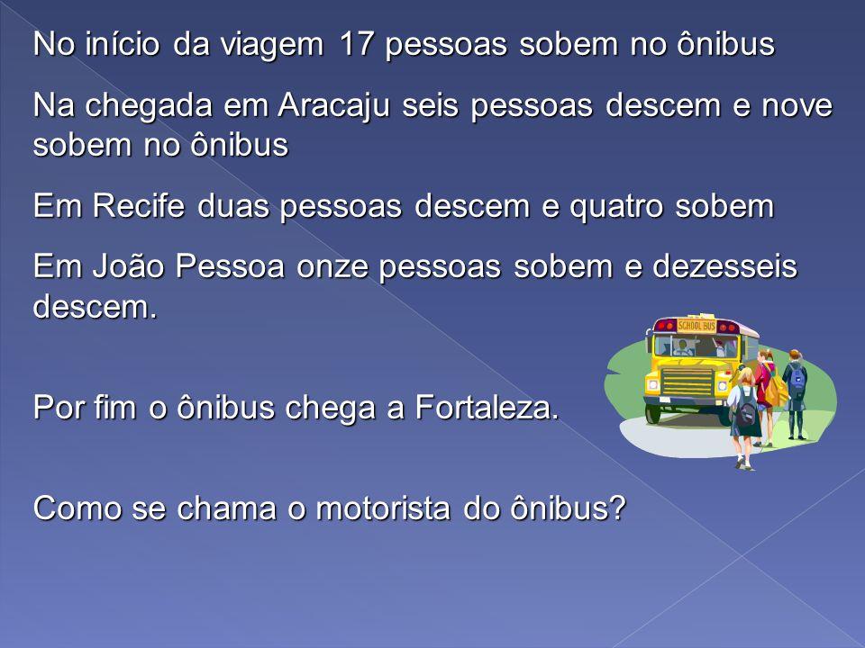 4. Sem utilizar uma calculadora. Você está dirigindo um ônibus entre Salvador e Fortaleza Fortaleza