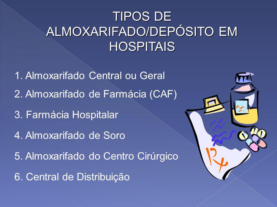 OS ARMAZÉNS: CONCEITOS As instalações onde se estocam os bens nos hospitais são, genericamente, denominadas armazéns ou almoxarifados, ou central de a