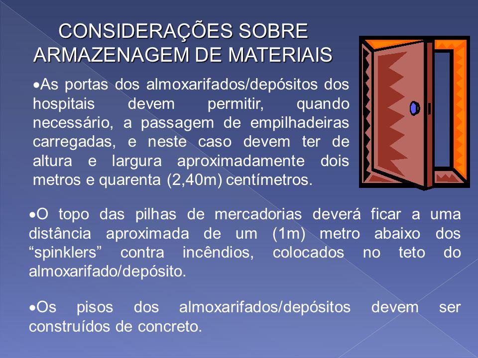 CONSIDERAÇÕES SOBRE ARMAZENAGEM DE MATERIAIS - Sistema de estocagem fixa. Normalmente são usados dois critérios de localização de material a saber: -