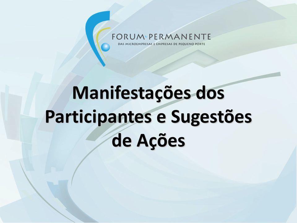 Manifestações dos Participantes e Sugestões de Ações