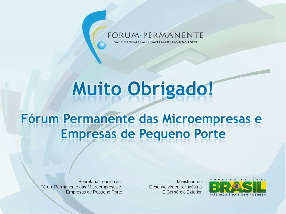 Ministério do Desenvolvimento, Indústria E Comércio Exterior Secretaria Técnica do Fórum Permanente das Microempresas e Empresas de Pequeno Porte