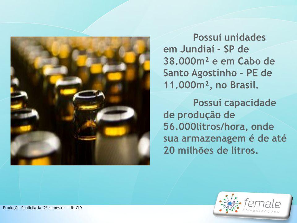 Produção Publicitária 2º semestre – UNICID Possui unidades em Jundiaí - SP de 38.000m² e em Cabo de Santo Agostinho – PE de 11.000m², no Brasil. Possu