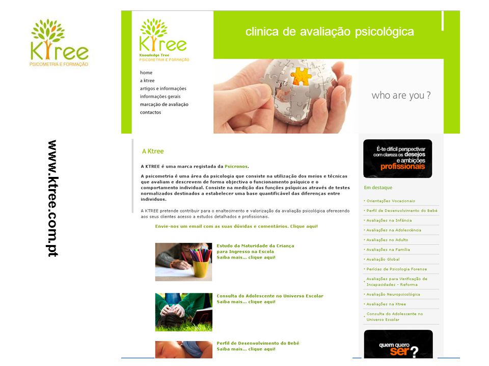 www.ktree.com.pt clinica de avaliação psicológica