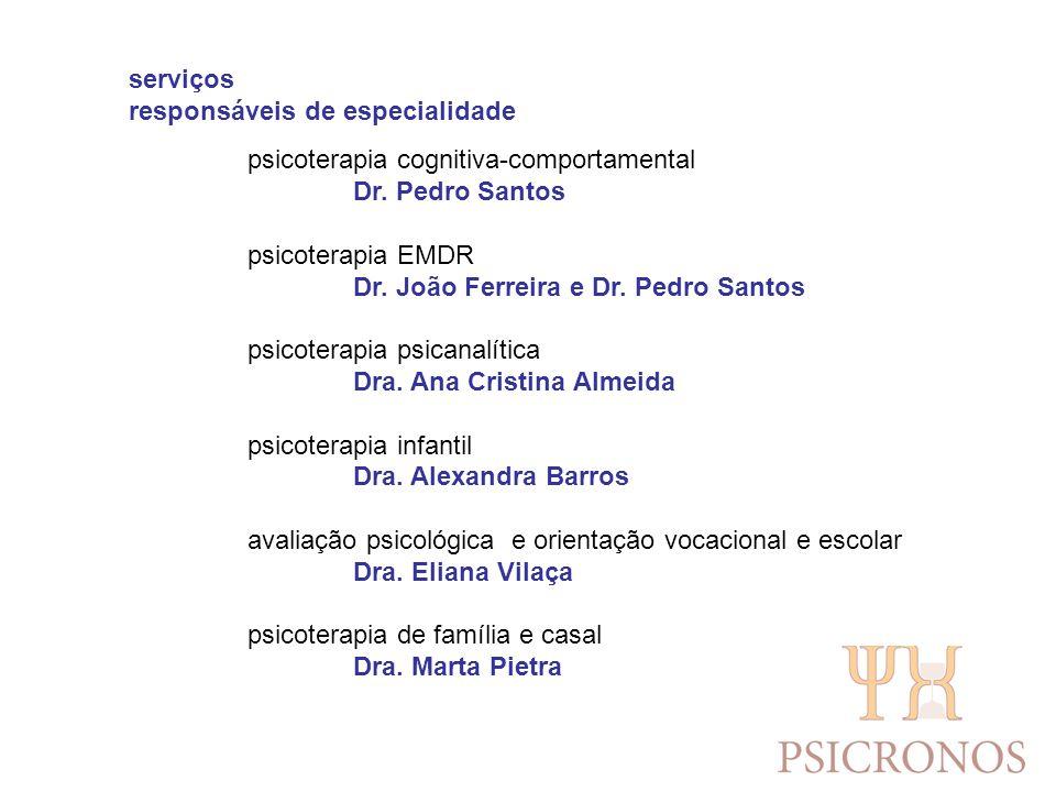 serviços responsáveis de especialidade sexologia clínica Dr.