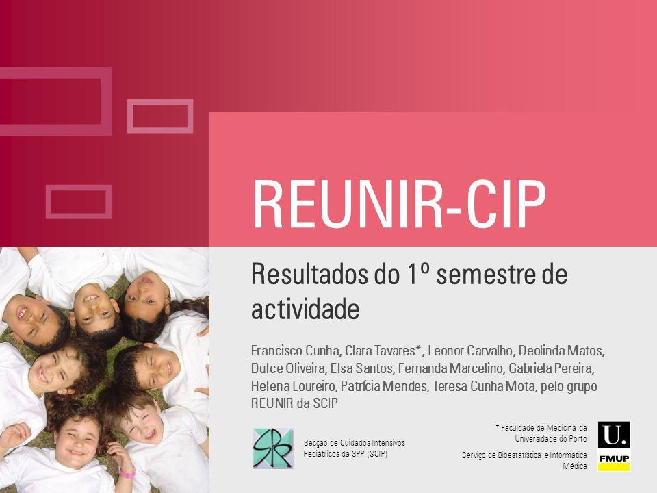REUNIR-CIP Resultados do 1º semestre de actividade Francisco Cunha, Clara Tavares*, Leonor Carvalho, Deolinda Matos, Dulce Oliveira, Elsa Santos, Fern