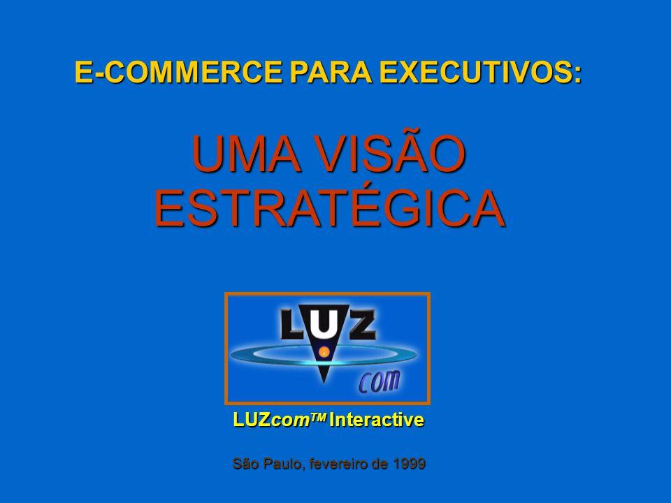 E-COMMERCE PARA EXECUTIVOS: UMA VISÃO ESTRATÉGICA LUZcom TM Interactive São Paulo, fevereiro de 1999