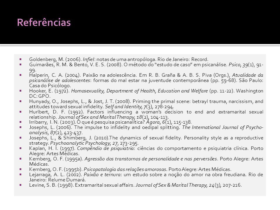 Goldenberg, M.(2006). Infiel: notas de uma antropóloga.