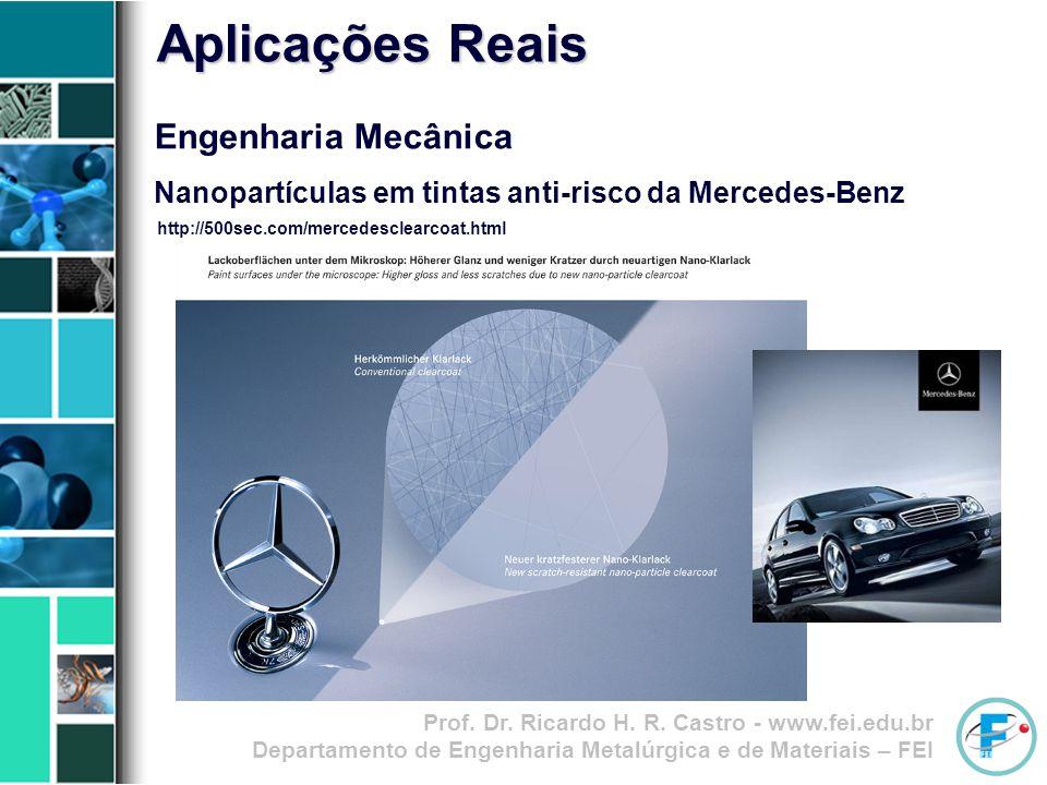 Prof. Dr. Ricardo H. R. Castro - www.fei.edu.br Departamento de Engenharia Metalúrgica e de Materiais – FEI Engenharia Mecânica Nanopartículas em tint
