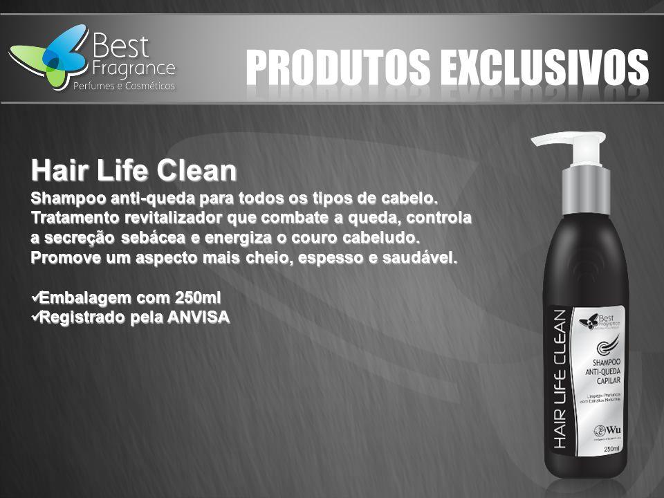 Hair Life Clean Shampoo anti-queda para todos os tipos de cabelo.