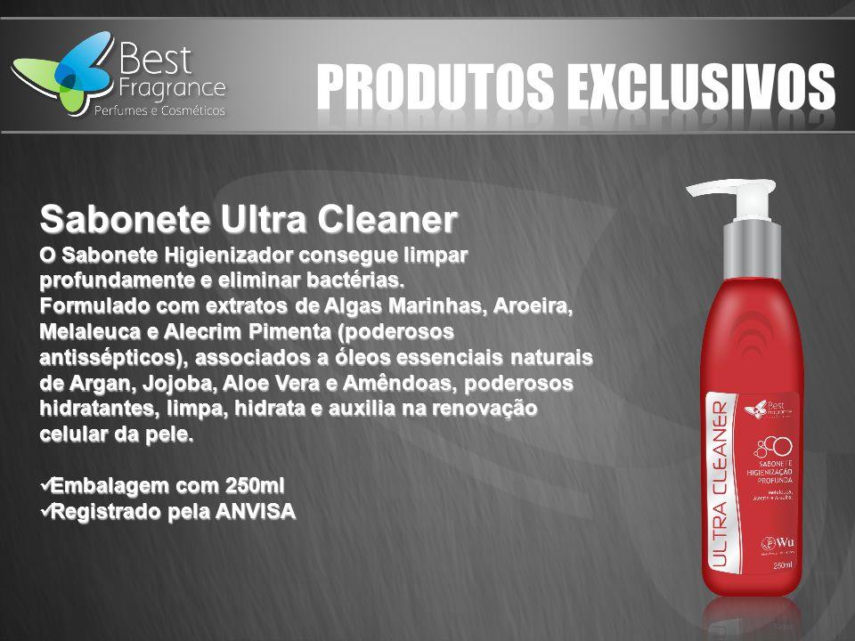 Sabonete Ultra Cleaner O Sabonete Higienizador consegue limpar profundamente e eliminar bactérias.