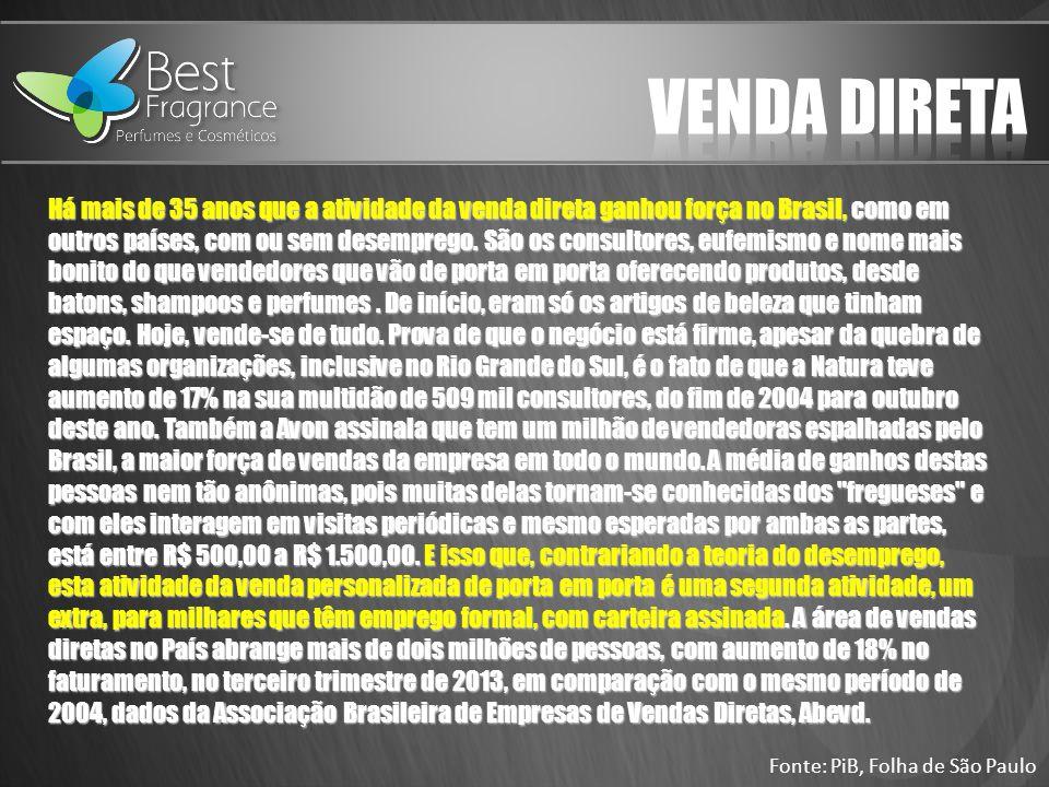 Há mais de 35 anos que a atividade da venda direta ganhou força no Brasil, como em outros países, com ou sem desemprego.