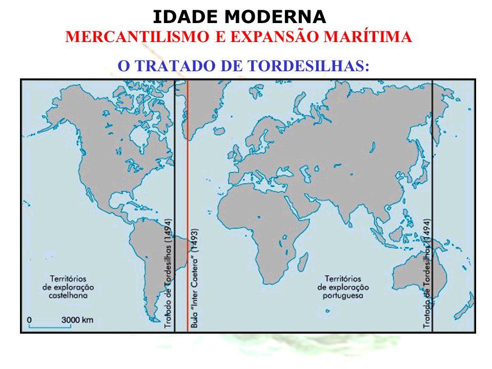 IDADE MODERNA MERCANTILISMO E EXPANSÃO MARÍTIMA O TRATADO DE TORDESILHAS: