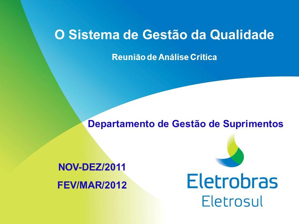 O Sistema de Gestão da Qualidade Reunião de Análise Crítica NOV-DEZ/2011 FEV/MAR/2012 Departamento de Gestão de Suprimentos