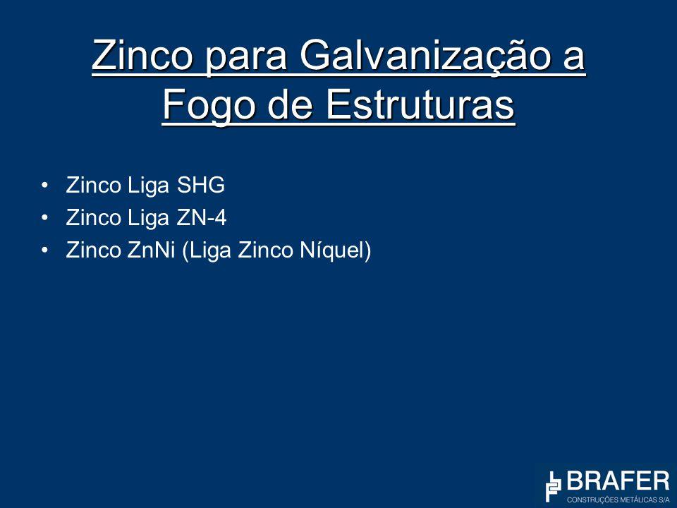 Zinco para Galvanização a Fogo de Estruturas Zinco Liga SHG Zinco Liga ZN-4 Zinco ZnNi (Liga Zinco Níquel)